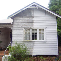 Exterior of house being cleaned
