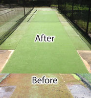 Before & After Cricket Pitch Cleaning